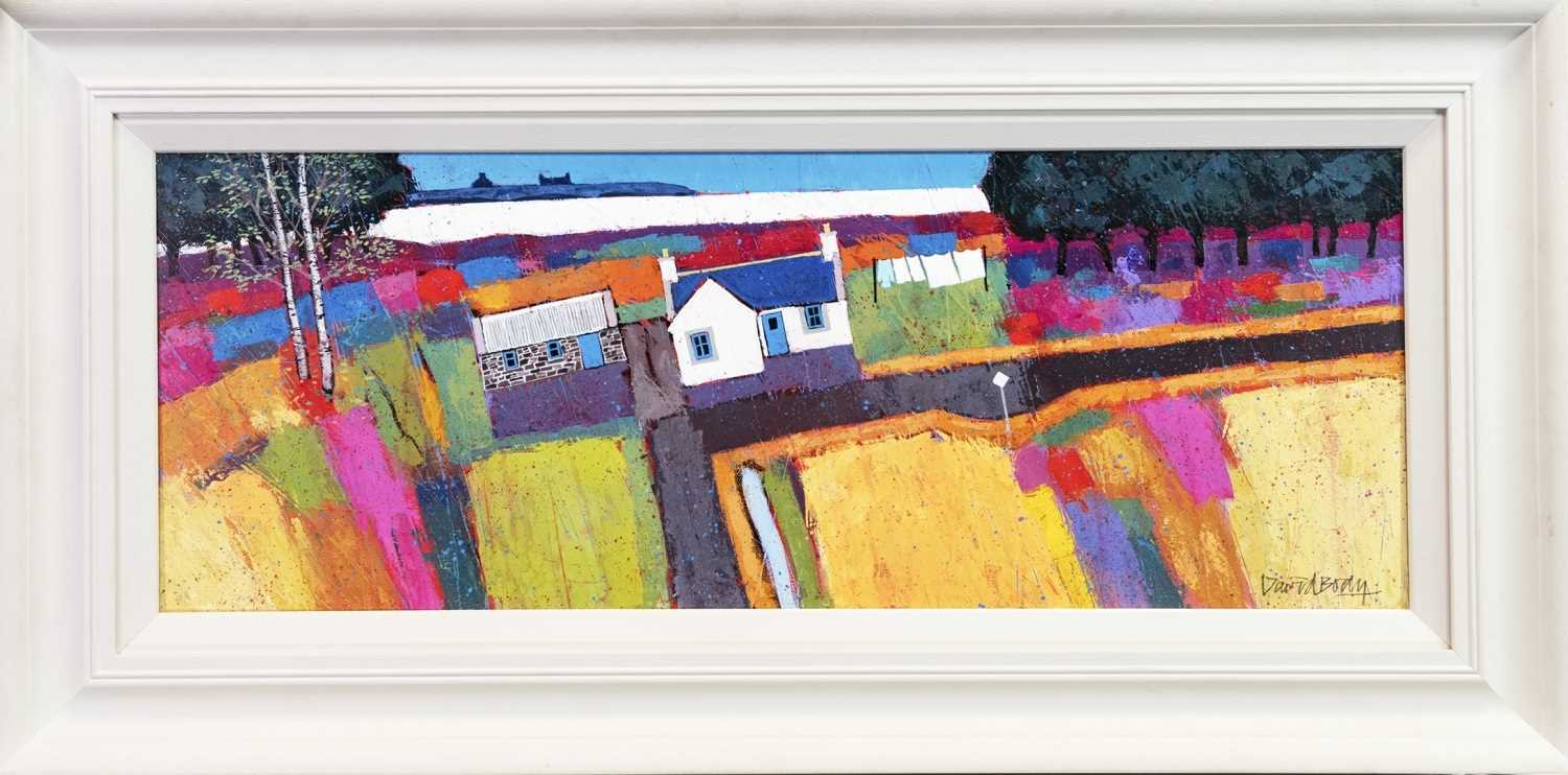 Lot 533 - BY THE SEA, AN OIL BY DAVID BODY