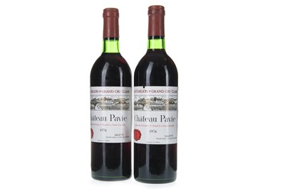 Lot 1010-TWO BOTTLES OF CHATEAU PAVIE 1976