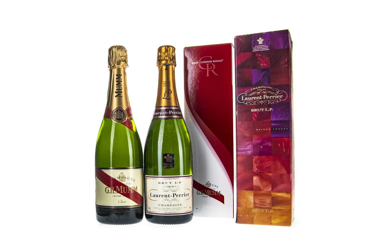 Lot 1012-GH MUMM AND LAURENT PERRIER