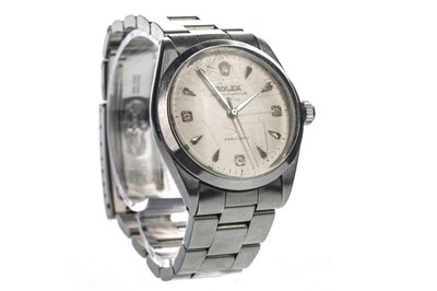 Lot 857-A GENTLEMAN'S ROLEX AIR KING STAINLESS STEEL AUTOMATIC WRIST WATCH