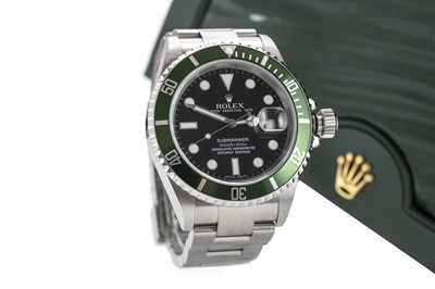 Lot 836-A GENTLEMAN'S ROLEX OYSTER PERPETUAL DATE SUBMARINER 'KERMIT' WRIST WATCH