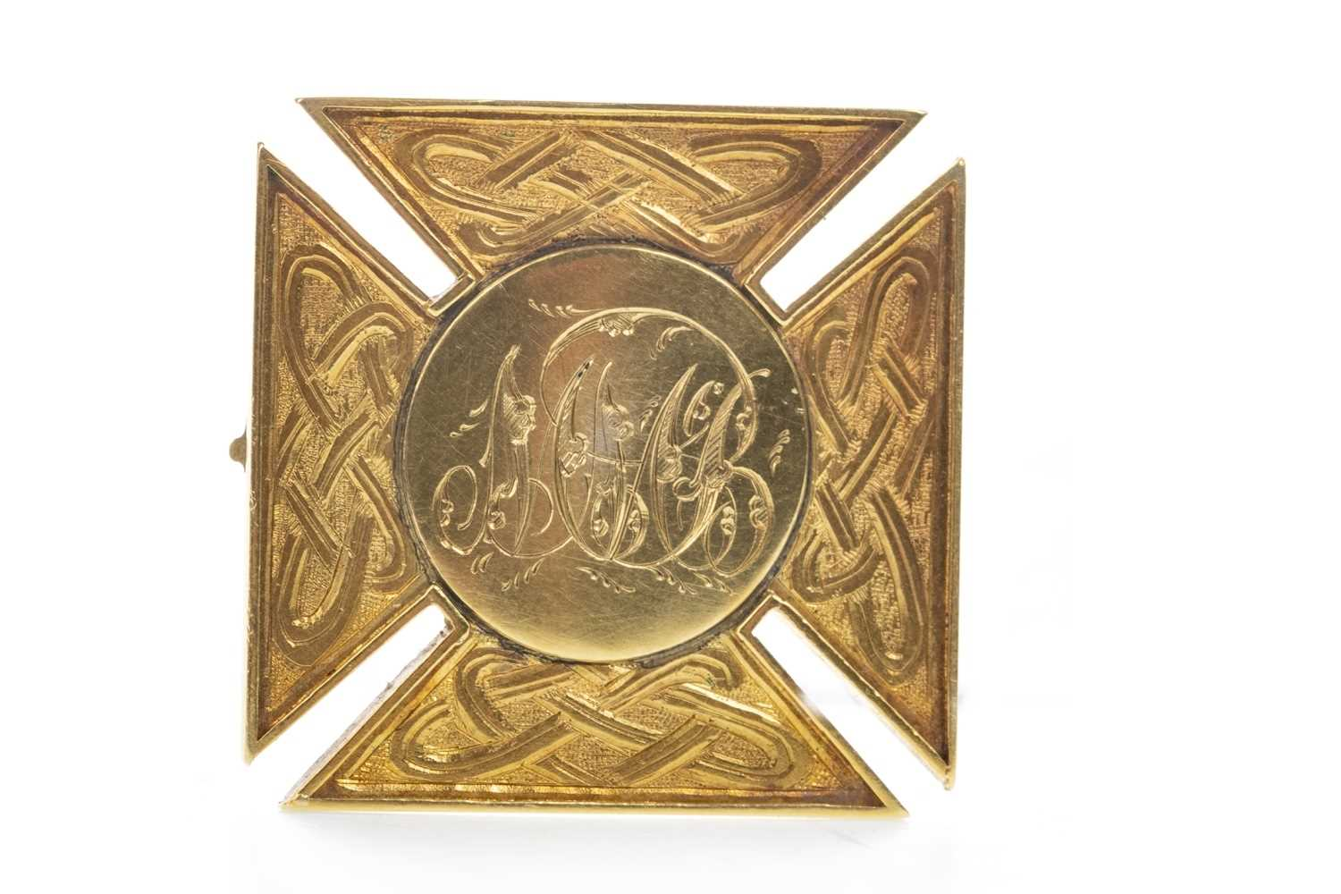 Lot 1715 - A VICTORIAN GOLD PLATED MEDAL WON BY J. MCBRIDE