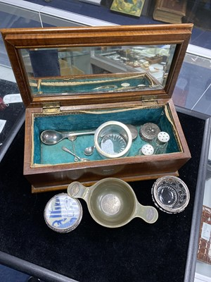 Lot 17-A 19TH CENTURY HORN QUAICH AND OTHER ITEMS