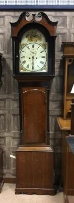 Lot 1151 - A LATE VICTORIAN LONGCASE CLOCK