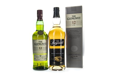 Lot 304-GLENLIVET 12 YEARS OLD AND SPEYSIDE AGED 10 YEARS