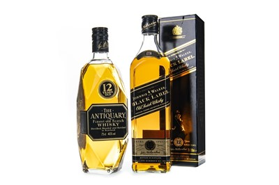 Lot 401-ANTIQUARY 12 YEARS OLD AND JOHNNNIE WALKER BLACK LABEL 12 YEARS OLD