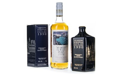 Lot 406-GLASGOW EUROPEAN CITY OF CULTURE 1990 AND WHISKY OF 1990