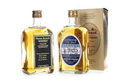 Lot 407-DARVEL 250TH AND FINEST 8 YEAR OLD SCOTCH WHISKY