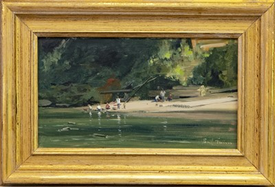 Lot 530-RIVERSIDE, AN OIL BY PAUL GUNN