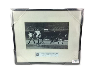 Lot 1717 - RANGERS F.C. INTEREST - AUTOGRAPHED PHOTOGRAPH FROM THE EUROPEAN CUP WINNERS CUP FINAL MATCH 1972