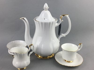 Lot 24-A ROYAL ALBERT VAL D'OR PART COFFEE SERVICE ALONG WITH A PARAGON PART TEA SERVICE