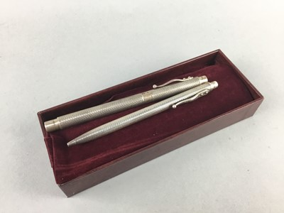 Lot 1-A LOT OF TWO SILVER CASED PENS BY GEORG JENSEN