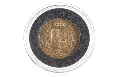 Lot 6-A GOLD SOVEREIGN DATED 1843