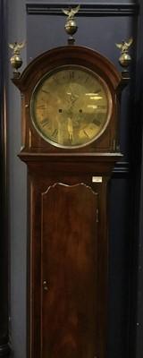 Lot 1109-AN EARLY 19TH CENTURY MAHOGANY LONGCASE CLOCK