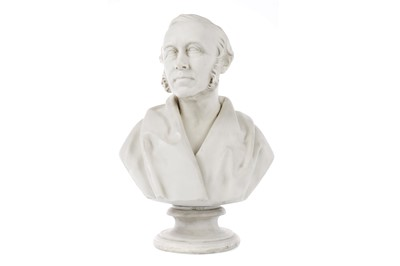 Lot 1236 - A COPELAND PARIAN WARE BUST OF JAMES SYME