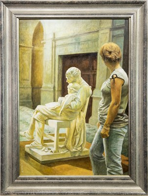 Lot 535-MOTHERLESS, KELVINGROVE ART GALLERY, AN OIL BY RICHARD WHINCOP