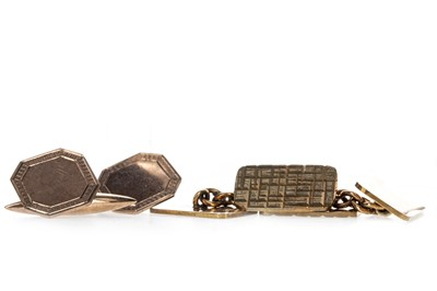 Lot 336 - TWO PAIRS OF CUFFLINKS