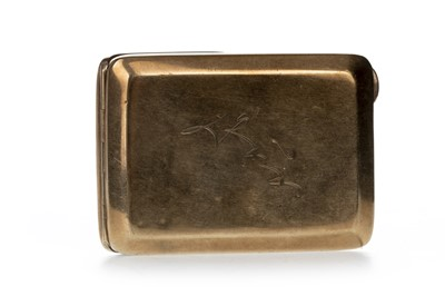 Lot 339 - NINE CARAT GOLD MATCHBOX