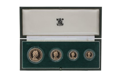 Lot 2-THE ROYAL MINT UK 1980 GOLD PROOF FOUR COIN SET