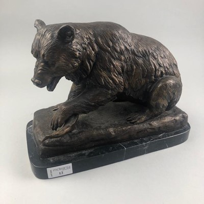 Lot 12-A BRONZE FIGURE OF A BEAR