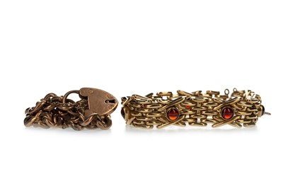 Lot 356 - TWO GOLD BRACELETS