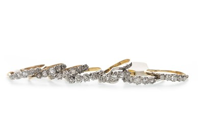 Lot 364 - EIGHT FIVE STONE RINGS