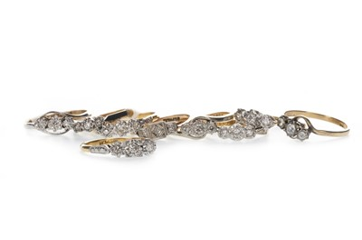 Lot 366 - NINE THREE STONE RINGS