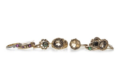 Lot 369 - A GROUP OF RINGS
