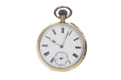 Lot 709 - A GOLD OPEN FACE POCKET WATCH