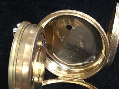 Lot 710-AN EIGHTEEN CARAT GOLD OPEN FACE POCKET WATCH