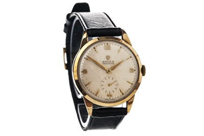 Lot 864-A GENTLEMAN'S NINE CARAT GOLD ROLEX PRECISION MANUAL WIND WRIST WATCH