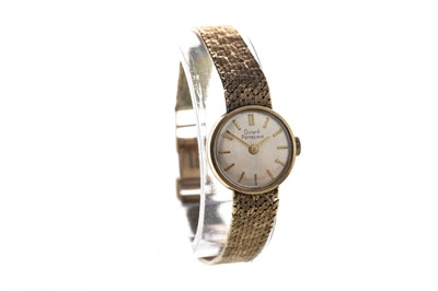 Lot 714 - A  LADY'S GIRARD PERREGAUX NINE CARAT GOLD MANUAL WIND WRIST WATCH