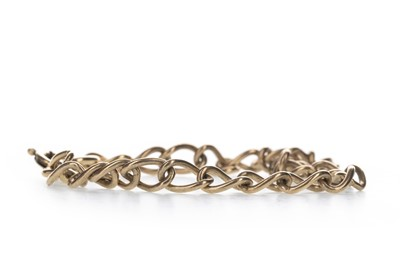 Lot 371 - A PARTIAL GOLD WATCH CHAIN