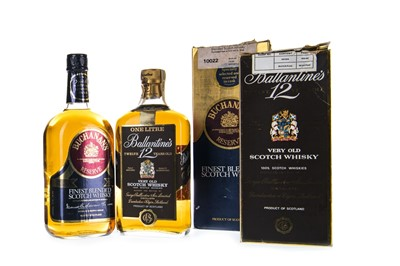 Lot 414-ONE LITRE OF BALLANTINE'S 12 YEARS OLD AND ONE LITRE OF BUCHANAN'S RESERVE