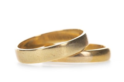 Lot 408 - TWO GOLD WEDDING BANDS