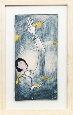 Lot 504-CATCH THE MOMENTS AS THEY FLY, A MIXED MEDIA COLLAGE BY WENDY KERSHAW
