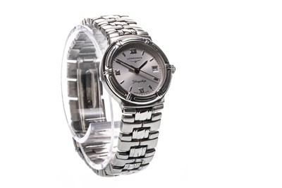 Lot 727-A LADY'S LONGINES STAINLESS STEEL QUARTZ WRIST WATCH
