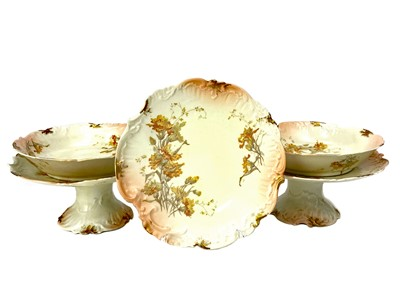 Lot 1005-AN EARLY 20TH CENTURY LIMOGES DESSERT SERVICE