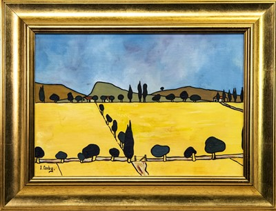 Lot 517-THE THREE FARMS, AN OIL BY IAIN CARBY
