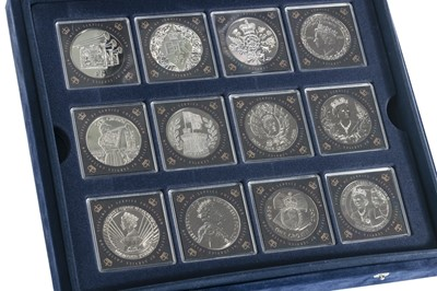 Lot 8-A DIAMOND JUBILEE QUEEN ELIZABETH II TWELVE CUPRO-NICKEL COIN SET