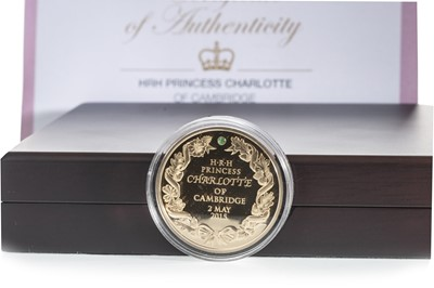 Lot 23-AN HRH PRINCESS CHARLOTTE OF CAMBRIDGE 1OZ GOLD COIN