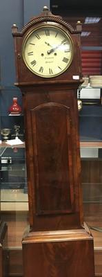 Lot 1153 - A 19TH CENTURY IRISH LONGCASE CLOCK