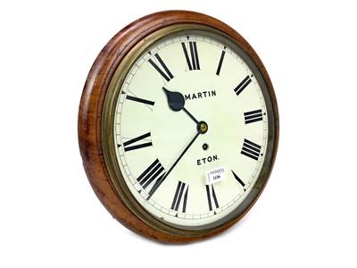 Lot 1156 - A CIRCULAR WALL CLOCK BY MARTIN OF ETON
