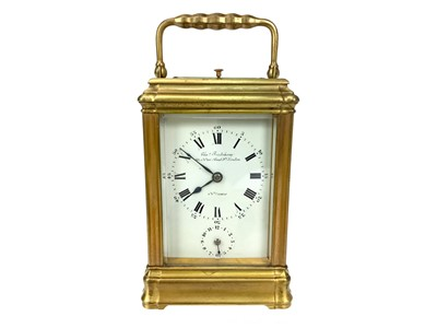 Lot 1154 - A LATE VICTORIAN CARRIAGE CLOCK BY CHARLES FRODSHAM