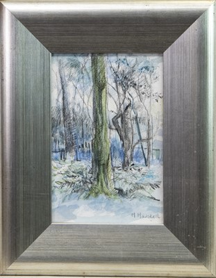 Lot 404-STUDY FOR BELLAHOUSTON, WINTER, A PENCIL AND WASH
