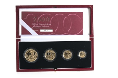 Lot 45 - 2000 GOLD PROOF BRITANNIA COLLECTION FOUR COIN SET