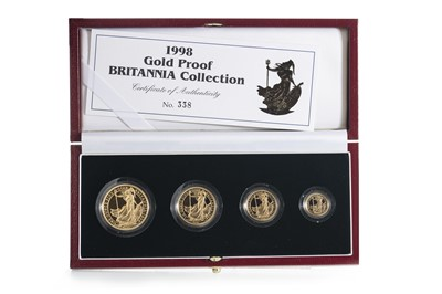 Lot 33 - 1998 GOLD PROOF BRITANNIA COLLECTION FOUR COIN SET