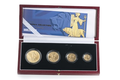 Lot 30 - 2001 GOLD PROOF BRITANNIA COLLECTION FOUR COIN SET