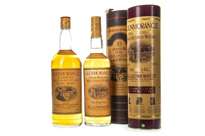 Lot 316-ONE LITRE AND 70CL OF GLENMORANGIE 10 YEARS OLD