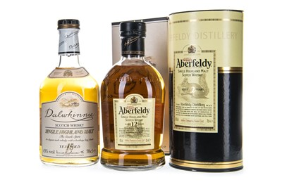 Lot 318-ABERFELDY AGED 12 YEARS AND DALWHINNIE 15 YEARS OLD